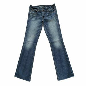 American Eagle Kick Boot Stretch Distressed Jeans